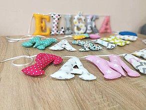 Textil - Textilné písmená - 10386623_