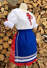 Košele - Folklórna blúzka Dorka - 10388169_