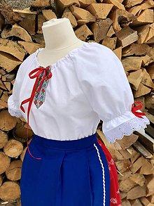 Košele - Folklórna blúzka Dorka - 10388168_
