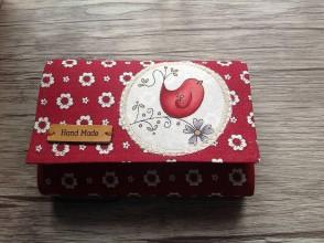 Peňaženky - Mini peňaženka - vtáčiková - 10387451_