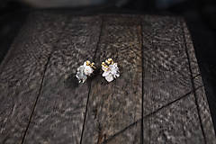 """Ozdoby do vlasov - Kvetinový set """"perly noci"""" - 10386581_"""