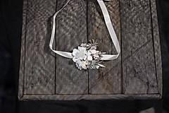 """Ozdoby do vlasov - Kvetinový set """"perly noci"""" - 10386586_"""