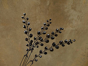 Ozdoby do vlasov - Vlásenky černočerné - 10386648_