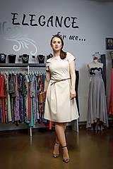 Šaty - Krémové šatičky - 10388019_