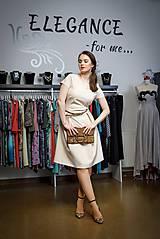 Šaty - Krémové šatičky - 10388020_