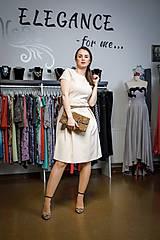 Šaty - Krémové šatičky - 10388021_