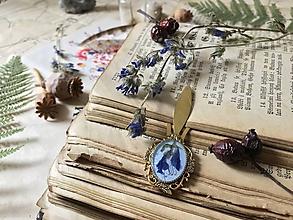 "Papiernictvo - Oválna botanická záložka ""Echium Gold"" - 10386672_"
