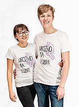 Tričká - Romantické tričká pre pár - Hrozno Ťa Ľúbim - 10385338_