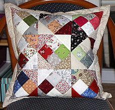 Úžitkový textil - Vankúšik pestrofarebný - 10387305_