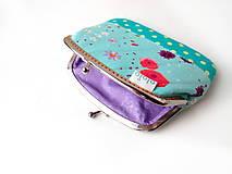 Peňaženky - Peňaženka XL Nežné kvietky - 10387105_
