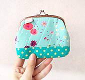 Peňaženky - Peňaženka XL Nežné kvietky - 10387106_