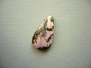 Minerály - Kabošon rodonitu 24 mm, č.15f - 10387041_