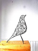 Socha - minimalistický vtáčik * 27 cm - 10387168_