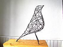 Socha - minimalistický vtáčik * 27 cm - 10387169_