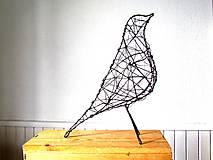 Socha - minimalistický vtáčik * 27 cm - 10387171_