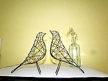 Socha - minimalistický vtáčik * 27 cm - 10387173_