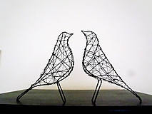 Socha - minimalistický vtáčik * 27 cm - 10387174_