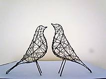 Socha - minimalistický vtáčik * 27 cm - 10387175_