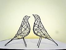 Socha - minimalistický vtáčik * 27 cm - 10387176_