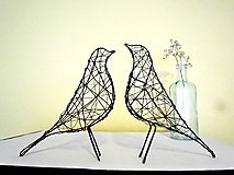 Socha - minimalistický vtáčik * 27 cm - 10387177_