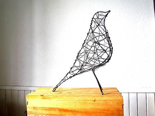 minimalistický vtáčik * 27 cm