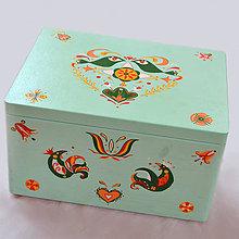Nábytok - DREVENÁ TRUHLICA XL (ručne maľovaná) - 10385644_