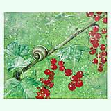 Obrazy - Šneček - olejomalba na plátně - 10386084_