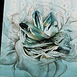 Obrazy - Krystalická květina - kombinovaná technika - 10386210_
