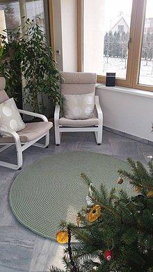 Úžitkový textil - Bavlnený koberec extra hrubý - OLIVA - 10385665_