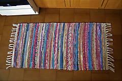 Úžitkový textil - Tkaný koberec pestrofarebný 7 - 10385735_