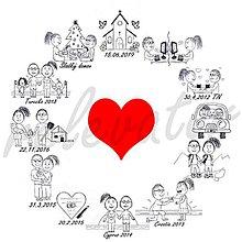 Grafika - Grafika na svadobné oznámenie REZERVOVANÉ - 10388221_