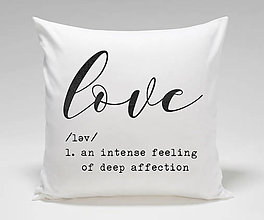 """Úžitkový textil - Vankúš """"LOVE"""" - 10391148_"""