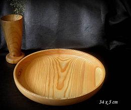 Nádoby - drevená misa - podnos - 10388938_