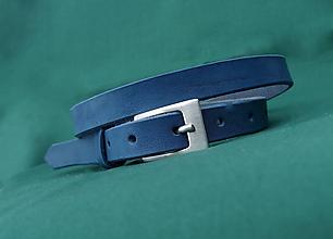 Opasky - Tenký opasek modrý - 10388807_