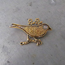 Odznaky/Brošne - PTÁK OHNIVÁK, brož, z hodinek, steampunk - 10389110_