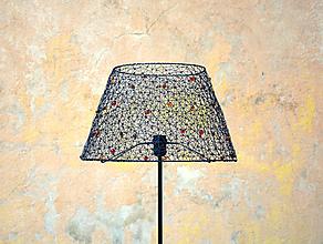 Svietidlá a sviečky - Dáma. Drátovaná stojací lampa. - 10392137_