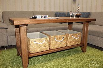 Nábytok - Konferenčný stolík - masív DUB - 10391199_