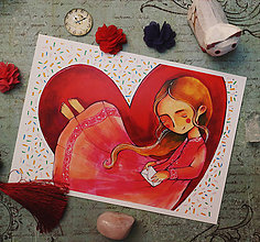 Grafika - Ľúbostné listy (13x18cm) - 10390484_