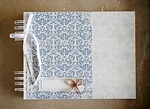Papiernictvo - Modrá kniha hostí / fotoalbum - 10391407_