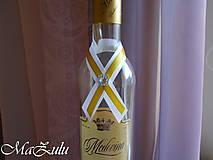 Pierka - stuhy na svadobné fľaše - 10389543_