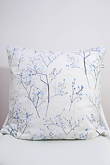 Úžitkový textil - FLORAL akvarelová obliečka - Gypsomilka - 10391876_