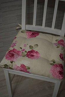 Úžitkový textil - PODSEDÁKY..květy - 10392446_
