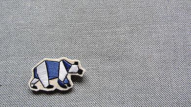 Odznaky/Brošne - Brošňa ľadový medveď II - 10389548_
