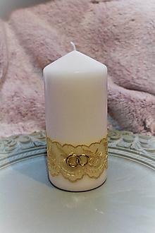 Svietidlá a sviečky - Svadobná sviečka