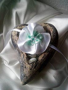 Pierka - svadobný náramok mentolový - 10390316_