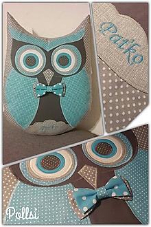 Textil - sovička s menom - 10390524_