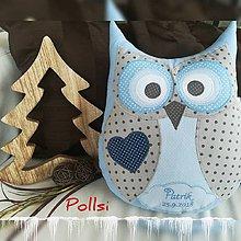 Textil - sovička s menom - 10390751_