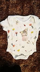 Detské oblečenie - Mačka so zlatou čelenkou - 10392757_