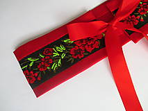 "Opasky - červeno-čierny set ""ona a on"": opasok + kravata - 10390802_"