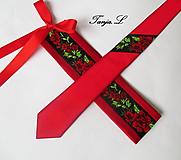 "Opasky - červeno-čierny set ""ona a on"": opasok + kravata - 10390803_"